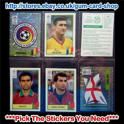 Panini Uefa Euro 2000 Stickers (Green Back) *Pick The Stickers You Need*