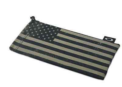 New Oakley Sunglass Subdued American Flag Microfiber Storage Cleaning Bag Black