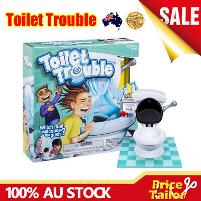 OZ Toilet Trouble Hilarious Board Game Flush Sound Effects Kids Children Fun Toy