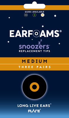 Snoozers 12 pack (3 pair of 4) Replacement Ear Foams from Flare Isolate