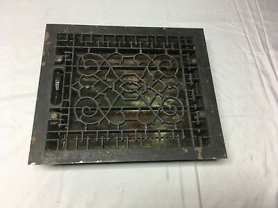 Antique Cast Iron Heat Grate Floor Vent Register Vtg Victorian Old 10x12 20-17B