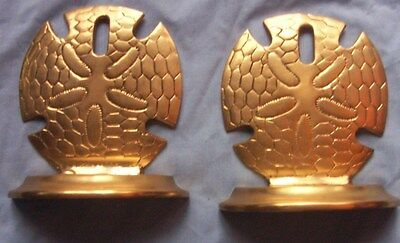 Pair of Vintage Brass Sand Dollar Bookends