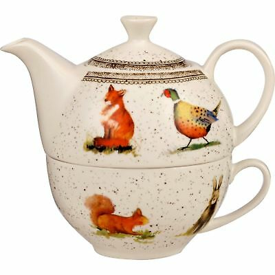 Alex Clark Fine China Tea For One - Wildlife - Colourful Country Style Teapot