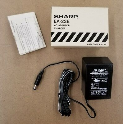 SHARP EA-23E AC ADAPTOR CHARGER - 120 VOLT AC IN - 8.5 VOLT DC OUT - 350mA