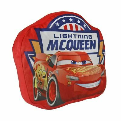 Disney Pixar Cars Lightning Mcqueen Shaped Cushion for Children - Red