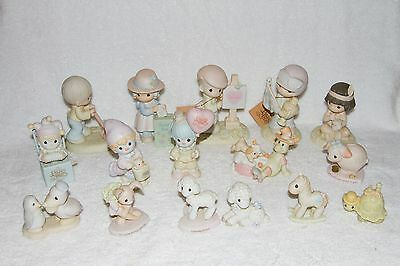 16 Piece Lot of Precious Moments Collectibles - 13 With Boxes