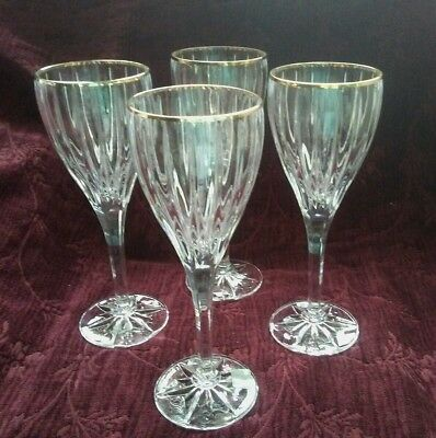 Mikasa Queen Anne Wine Glasses Goblets Set Of 4 Free