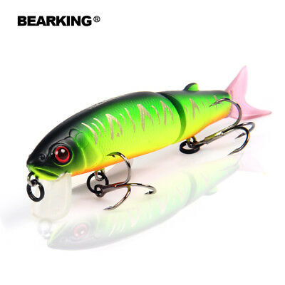 Bearking fishing Lure Minnow Quality Bait 11.3cm swim bait jointed bait hook-in