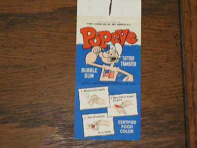 Popeye Vintage Topps Tattoo From The 1960's