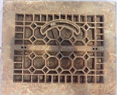 Antique Cast Iron Ceiling Wall Heat Grate Register Old Vtg Vent 10x8 23-17B