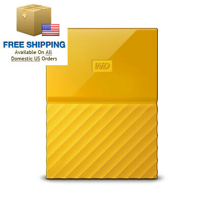 WD 1TB Yellow My Passport Portable External Hard Drive - USB 3.0 -...