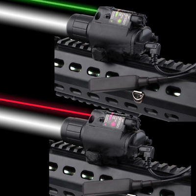 Combo Tactical LED Flashlight with Red Laser Sight Scope 20mm Rail F Pistol