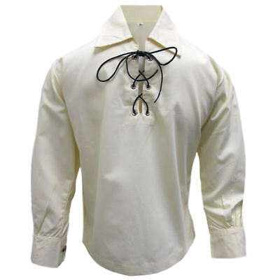 Tartanista Boys Cream/Ecru Jacobite/Jacobean Scottish Ghillie Shirt Ages 3-14