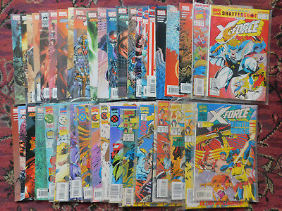36 different marvel x-force and excalibur comics