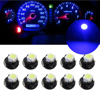 10x T4.7 T5 12mm Neo Wedge LED Bulbs Dash Control Climate Instrument Base Light