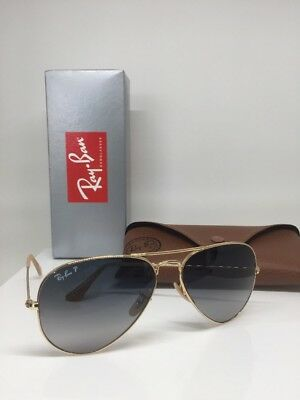 80ee1f80b60 New Ray Ban Aviator Sunglasses RB 3025 C. 001 78 58mm Gold With Polarized