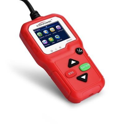 KW680 OBDII OBD2 EOBD Car Code Reader Vehicle Diagnostic Scan Tool Scanner Red