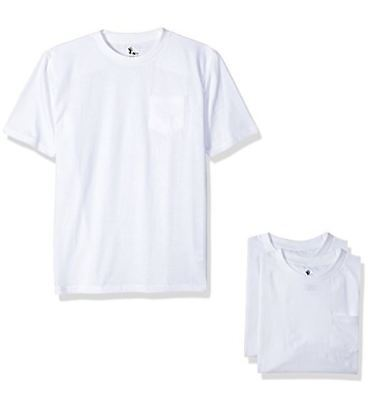 AMERICAN HAWK 3-Pack Toddler Crew Neck Pocket T-Shirts WHITE 4T New