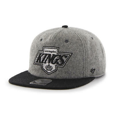 Los Angeles Kings Gray Black 2 Tone  '47 Brand Captain Snapback NHL Cap