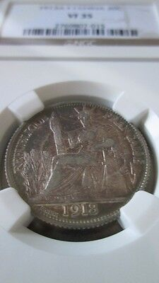 French Indochina 20 Cents 1913A NGC VF 35