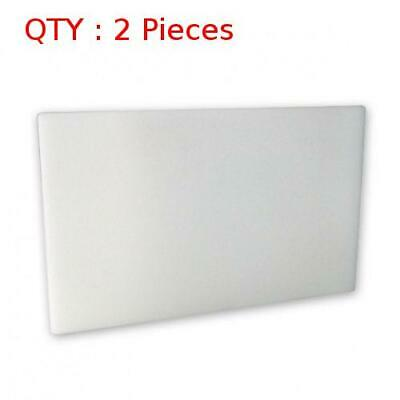 2 Heavy Duty White Plastic Kitchen Hdpe Cutting/Chopping Board 450X450X13mm
