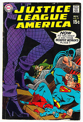 Justice League Of America #75 Mid Grade Black Canary Joins Dc Comics 1969