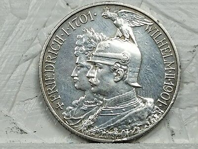 Prussia ~ German States ~ 1901-A ~ 2 Mark ~ 90% Silver Coin - #418