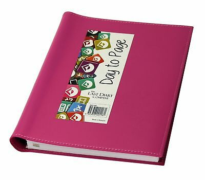 Diary 2019 Last Diary Company Ainsley A5 Wiro Day To Page Pink AA51