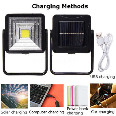 Portable 15W Solar Powered LED Rechargeable Bulb Light Outdoor Camping Yard Lamp