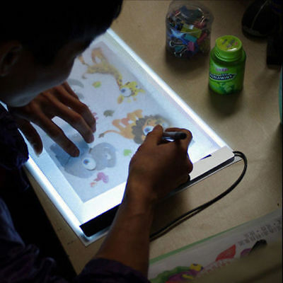 A4-DC-5V Drawing Tracing Copy Tracer LED Light Box Pad Art Graphic Sketch Board