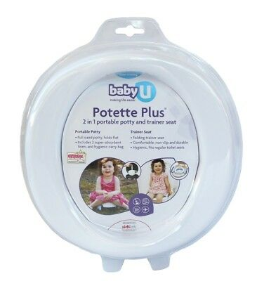 Baby U Potette Plus - Portable Potty and Trainer Seat 2 in 1