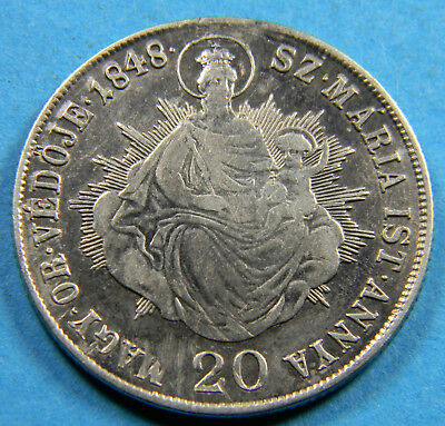 Hungary 1848 silver 20 Krajczar (0983) KM# 432 War of Independence Coinage