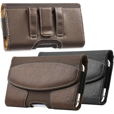 Wallet Horizontal Heavy Duty Cell Phone Pouch Case Holder Holster Belt Clip