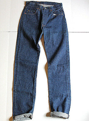 VTG LEVI'S 501 Blue Jeans Mens INDIGO Denim 28x37 EUC USA MADE Red Tab 70s 80s