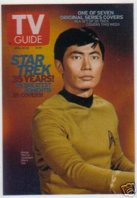 Quotable Star Trek Tos Tv Guide Card Tv6 Sulu Takei