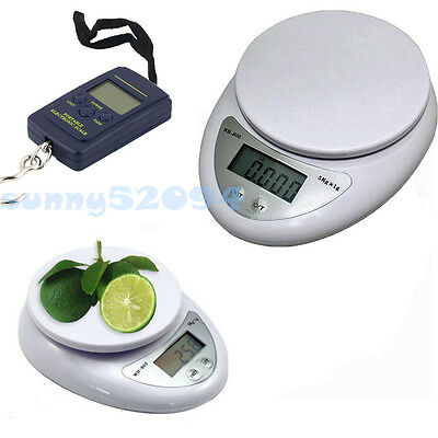 5kg/1g 40kg/10g Digital Electronic Kitchen Food Diet Scale Weight Balance EH