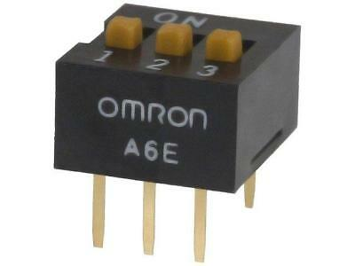 A6E-3104 Switch DIP-SWITCH Poles number3 ON-OFF 0.025A/24VDC 100MΩ A6E-3104-N