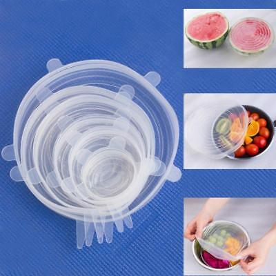 6pcs Silicone Suction Lid Bowl Pan Cooking Pot Stretch Cover Food Fresh Care JA