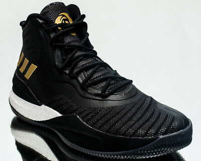 brand new 6057d 7fb23 adidas D Rose 8 men basketball shoes NEW black gold white CQ1618