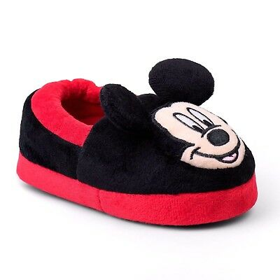 Mickey Mouse Little Boys Slippers 5 6 8 9 10 11 12
