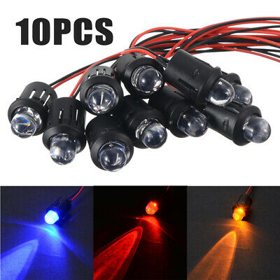 10pcs 12V 10mm Pre-Wired Constant LED Ultra Bright Water Clear Bulb with Shell
