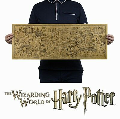 Harry Potter Map Collectors Poster Magic Old World Map Wizarding Poster 72x26cm