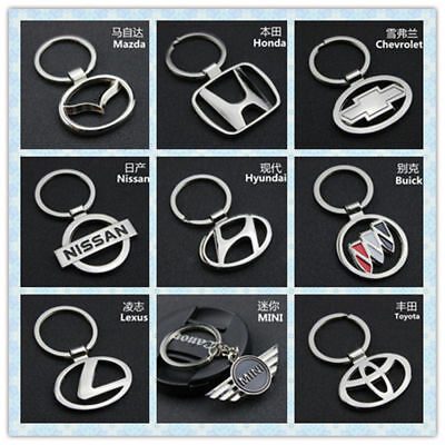 Cute 3D Car Hollow Metal Keyring Titanium Key Chain Car Keychain Keyfob