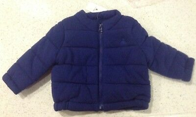 Baby Gap Baby Boy 0-6 Months Blue Quilted Jacket Blue Nwt Infant