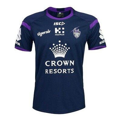Melbourne Storm NRL 2018 ISC Midnight Marle Training T Shirt Size S-5XL!
