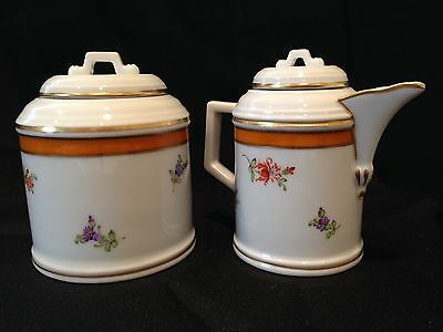 Hochst Floral Hand-Painted Porcelain Sugar/Creamer Set Made In Germany New