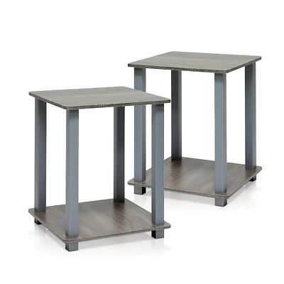 Simplistic End Table, Set of Two, French Oak Grey