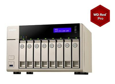 NEW! QNAP TVS-863-4G 32TB 8 x 4TB WD RED PRO 8 Bay NAS Unit with 4GB RAM