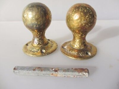 Vintage Brass Door Knobs Handles Architectural Antique Old Arts & Crafts?
