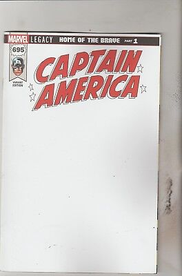 Marvel Comics Captain America #695 January 2018 Blank Variant 1St Print Nm